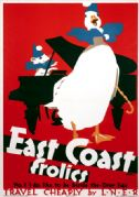 East Coast Frolics. Vintage LNER Travel Poster by Frank Newbould